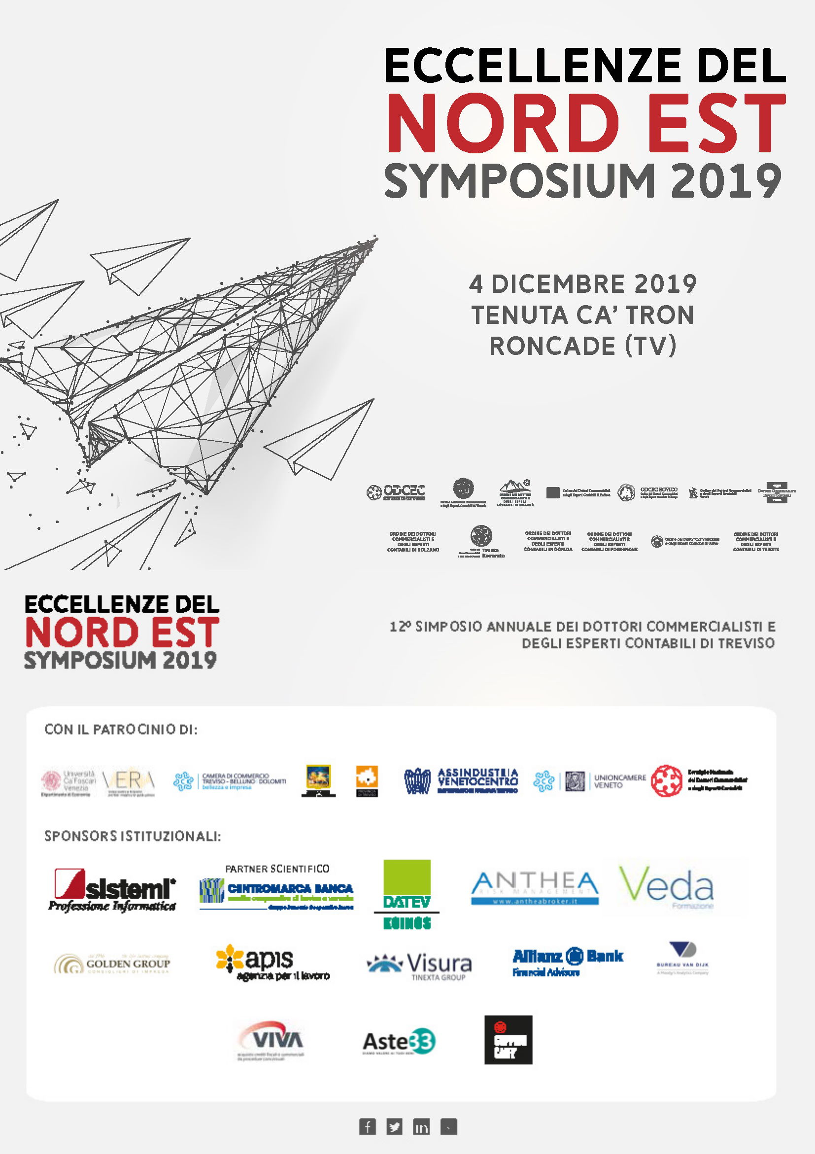 Symposium Eccellenze del Nord Est 4 dicembre 2019